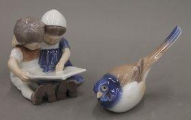 Two Copenhagen porcelain models