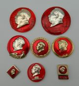 A collection of Chairman Mao badges