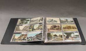 An album of vintage postcards.
