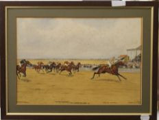 ISAAC CULLIN, The Cambridgeshire Stakes 1911 inscribed ''Mercutio - C Trigg Up,
