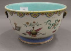 A 19th century Chinese bowl. 21 cm diameter.