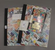 Three stamp albums
