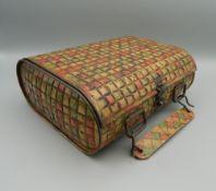 A Huntley and Palmers handbag tin.