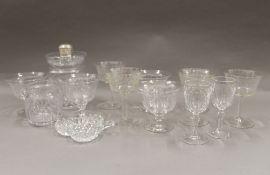 A quantity of cut glassware