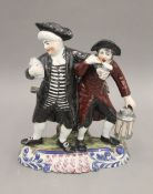 A 19th century Staffordshire figural group. 23 cm high.