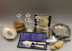 A quantity of various metalware, etc.
