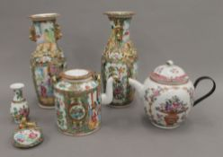 A small quantity of various 18th and 19th century Chinese porcelain. The largest 26 cm high.