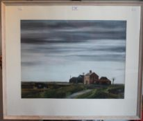 JOHN BULLOCK, Fen Farm Scene, watercolour and gouache, signed and dated 11/68, framed and glazed.