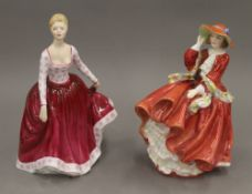 Two Royal Doulton figurines,