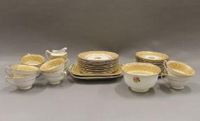 A George Jones florally decorated tea set