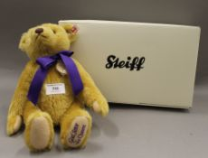 A boxed Steiff collectors bear, God Save The Queen. 29 cm high.