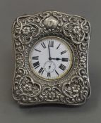 A silver cased Goliath pocket watch