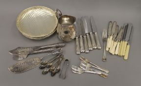 A box of silver plate