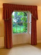 A pair of curtains, possibly Sanderson. 201 cm wide x 255 cm high.