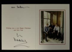 HRH Prince Charles, The Prince of Wales (born 1948) signed Christmas card, possibly 2000,