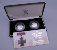 Two 2006 Victoria Cross 50 pence silver proof coins