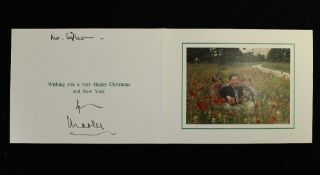 HRH Prince Charles, The Prince of Wales (born 1948) signed Christmas card, possibly 1994,