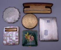 Four vintage compacts,