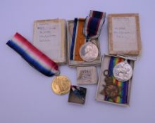 A set of four WWI medals awarded to Pte J E Lowe RMLI, (Royal Marines Light Infantry), CH12242,