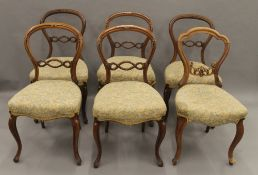 A quantity of various Victorian chairs.