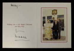HRH Prince Charles, The Prince of Wales (born 1948) signed Christmas card, possibly 1997,