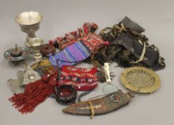 A quantity of various Tibetan items.