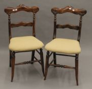 A pair of 19th century faux rosewood chairs