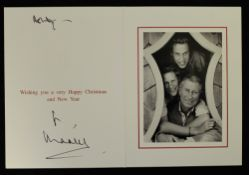 HRH Prince Charles, The Prince of Wales (born 1948) signed Christmas card, possibly 2003,