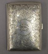 A silver cigar case. 12 cm high. 4.7 troy ounces.