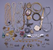 A quantity of costume jewellery, etc.