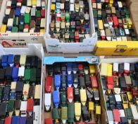 Collection of Lledo advertising and other unboxed vehicles in five boxes