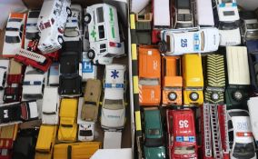 Collection of Lledo, Saico, Emergency Service and other diecast vehicles including Land Rover, in