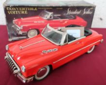 Standard Sedan, convertible Vitoure, friction powered with red open topped body in original box (