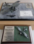 Diverse Images Aircraft Collection hand crafted English pewter model of Fairey Swordfish 825