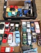 Maitso Porsche Cayenne and Hummer boxed models, and a collection of unboxed Corgi, Lledo, Franklin