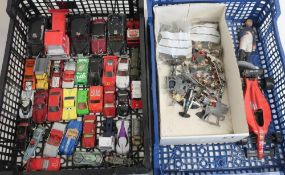 Collection of unboxed die-cast vehicles, Corgi, Lledo, Matchbox, etc, and a quantity of painted