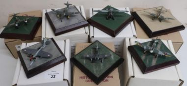 Diverse Images Aircraft Collection hand crafted English pewter model of Seafire FR47804 Squadron