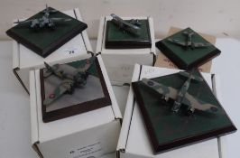 Diverse Images Aircraft Collection hand crafted English pewter model of Blenhim IV 144 Squadron,