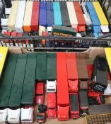Collection of Lledo, Corgi, and other die-cast models of commercial vehicles, including Stobart,
