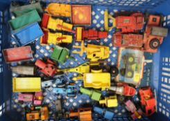 Collection of boxed Lesney and other small scale die-cast vehicles all unboxed, in two boxes