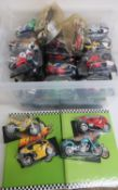 Collection of Mega Bike blister packaged models of Motor cycles with booklets