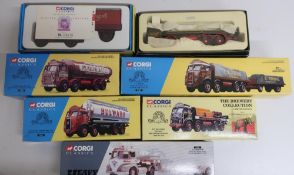 Collection of Corgi classic vehicles, Eddie Stobart, Leyland Octopus, Leyland Octopus, Bulwark