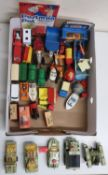 Five Matchbox Battle Kings, diecast models, other Matchbox small scale diecast vehicles, in two