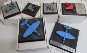 Diverse Images Aircraft Collection hand crafted English pewter models of Meteor lll 616 squadron