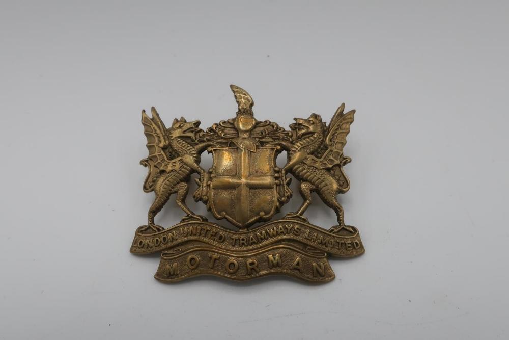 London United Tramways Limited Motor Man cap badge