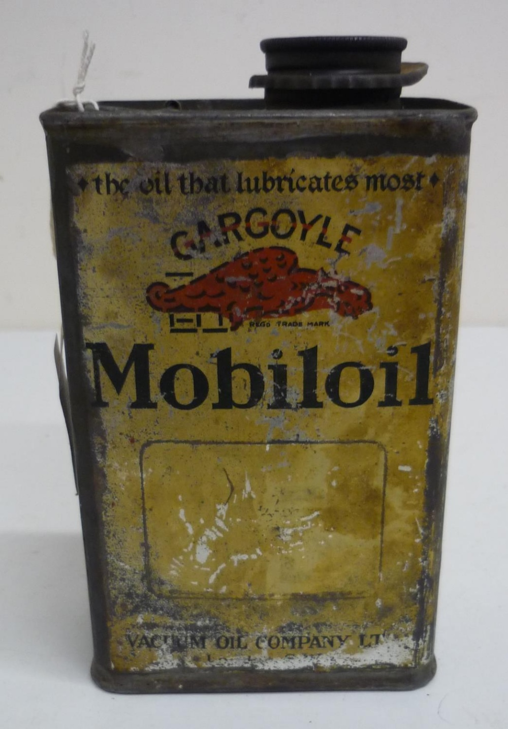 Mobile Oil Gargoyle oil can, carry handle and pouring spout (20cm high)