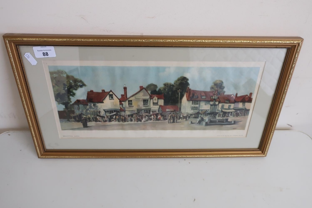 Framed and mounted railway carriage print by Blake of Braintree, Essex - Image 2 of 2