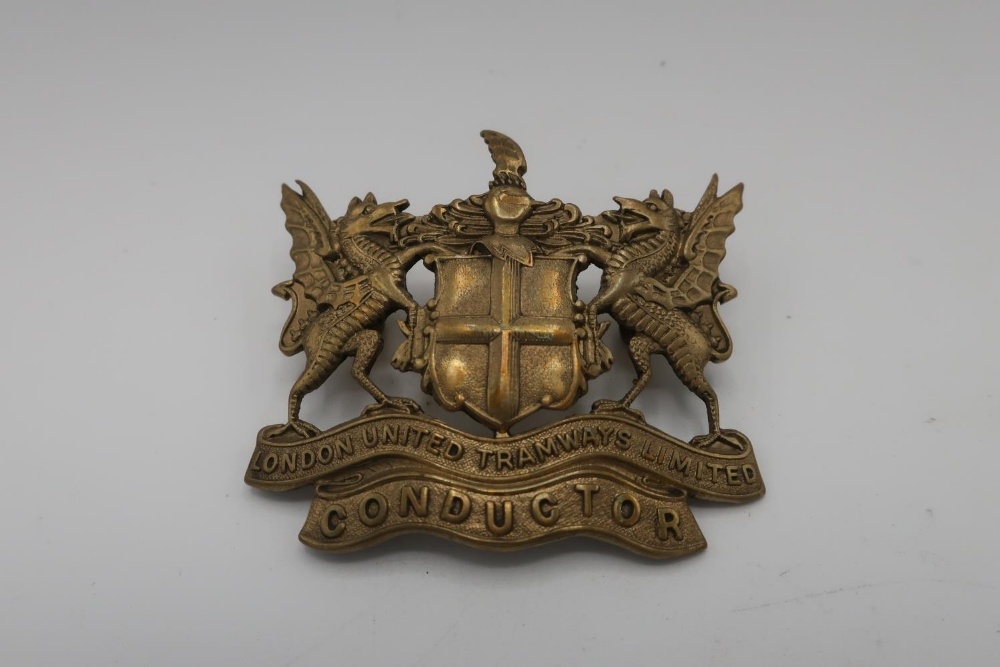 London United Tramways Limited Conductor cap badge