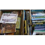 Collection of cricket books and cricket benefit brochures, some signed by Yorkshire players (39)