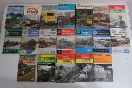 Collection of Ian Allen railway related books, including ABC, Motive Power, Locomotives, etc in